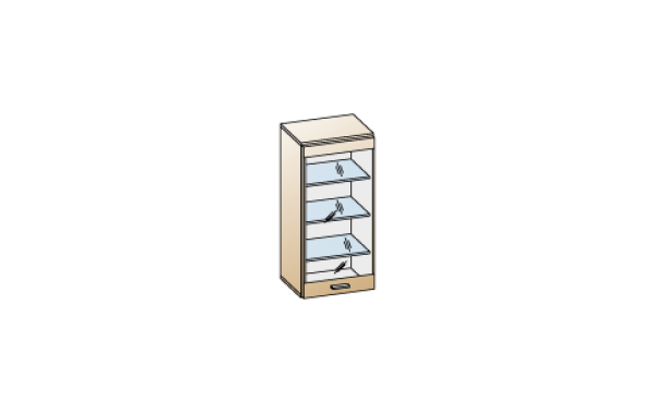 Модули: Гостиные Камелия 2021 - Антресоль АН-2624 | ЛЕРОМ™