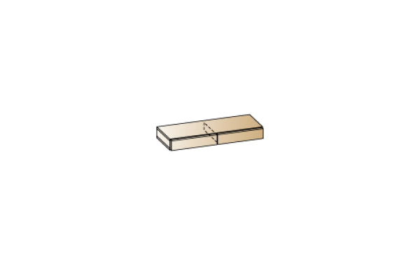 Модули: Гостиные Камелия 2021 - Антресоль АН-2663 | ЛЕРОМ™