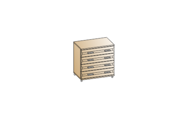 Модули: Спальни Мелисса 2021 - Комод КМ-2831 | ЛЕРОМ™