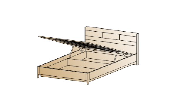 Модули: Спальни Мелисса 2021 - Кровать КР-1863 (1,6х2,0) | ЛЕРОМ™