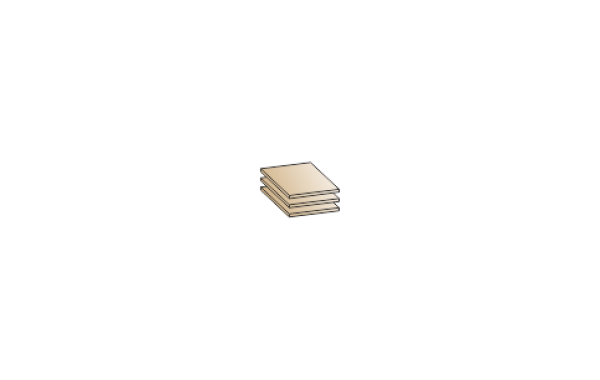 Модули: Прихожие Мелисса- 2021 - Полки ПЛ-1023 | ЛЕРОМ™