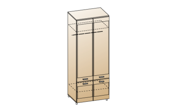 Модули: Гостиные Камелия 2021 - Шкаф ШК-2602 | ЛЕРОМ™