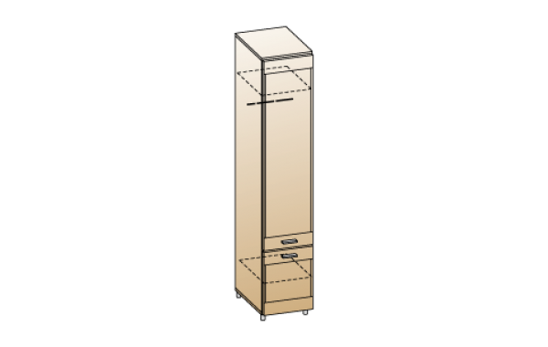 Модули: Гостиные Камелия 2021 - Шкаф ШК-2621 | ЛЕРОМ™