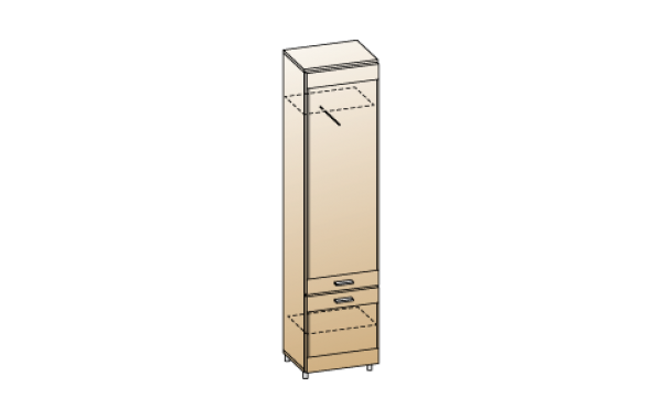 Модули: Гостиные Камелия 2021 - Шкаф ШК-2641 | ЛЕРОМ™