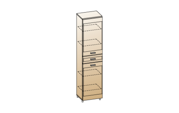 Модули: Гостиные Камелия 2021 - Шкаф ШК-2645 | ЛЕРОМ™