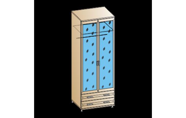 Модули: Спальни Мелисса 2021 - Шкаф ШК-2807 | ЛЕРОМ™