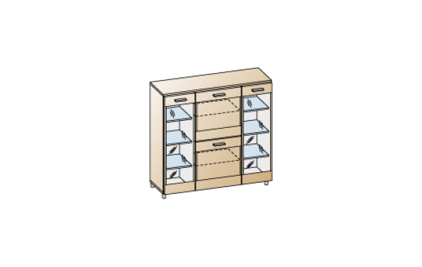 Модули: Гостиные Камелия 2021 - Тумба ТБ-2602 | ЛЕРОМ™