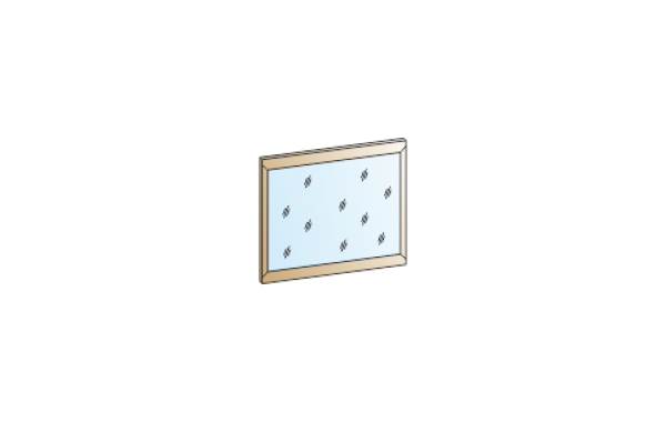 Модули: Спальни Мелисса 2021 - Зеркало ЗР-2801 | ЛЕРОМ™